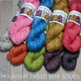 Mountain Tweed Semi-Solids - Fingering & DK